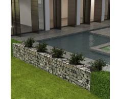 vidaXL Cesta de muro de gaviones acero galvanizado 300x30x50 cm