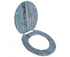 Douceur dInt/érieur Interior Suavidad 6STO085BL MDF Asiento de Inodoro Blue Ocean 47 x 37 x 5 cm