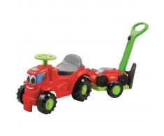 Ecoiffier Tractor correpasillos con remolque y cortacésped 1430298