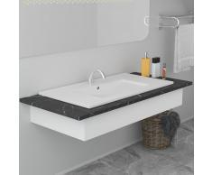vidaXL Lavabo encastrado de cerámica blanco 80,5x46,3x17,5 cm