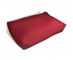 vidaXL Cojín Tapizado De Asiento 60 x 40 20 cm Rojo Vino