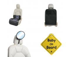 A3 Baby & Kids A3 Baby & Kids Set de accesorios de coche para bebé 4 piezas negro
