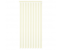 vidaXL Persiana vertical tela color crema 200x180 cm