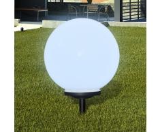 vidaXL Lámpara solar LED para el jardín 40 cm con pica de tierra