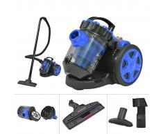 vidaXL Aspiradora multi-ciclónica sin bolsa de color azul