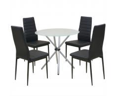 vidaXL Conjunto de mesas y sillas de comedor de cinco piezas