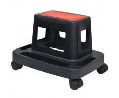 vidaXL Taburete para mecánicos giratorio con almacenamiento 150 kg
