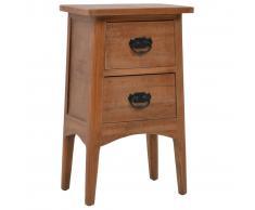 vidaXL Mesita de noche madera maciza de abeto 40x29x68 cm marrón