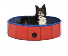 vidaXL Piscina para perros plegable PVC rojo 80x20 cm