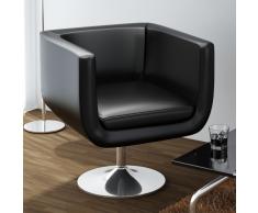 vidaXL Sillón en forma de cubo negro, ajustable y moderno