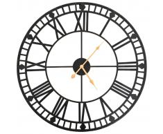 vidaXL Reloj de pared vintage movimiento cuarzo metal 60 cm XXL