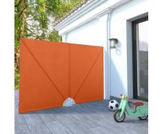 vidaXL Toldo lateral plegable terraza color terracota 240x160 cm