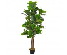 vidaXL Planta artificial ficus con macetero 152 cm verde
