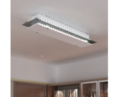 vidaXL Lámpara de techo vidrio, rectangular estampada 3 x E27