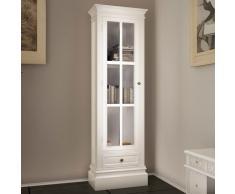 vidaXL Estantería moderna con 3 estantes de madera blanca