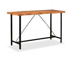 vidaXL Mesa de bar de madera maciza de sheesham 180x70x107 cm