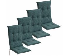 vidaXL Cojín para sillas de jardín 4 unidades 117x49 cm azul