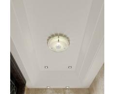 vidaXL Lámpara de techo vidrio, cristal redondo, 1 x E27