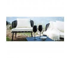 miliboo Lote de 2 sillones de jardín en resina imitación mimbre negro