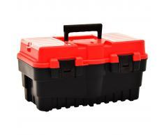 vidaXL Caja de herramientas de plástico rojo 462x256x242 mm