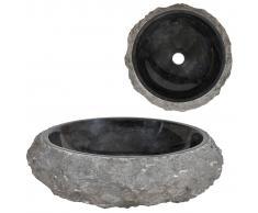 vidaXL Lavabo 40x12 cm de mármol negro