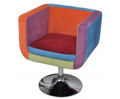 vidaXL Sillón con diseño de cubo de retales de tejido