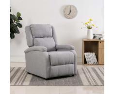 vidaXL Sillón reclinable para TV de tela gris claro