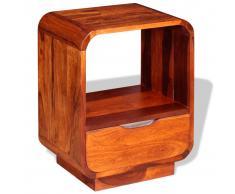 vidaXL Mesita de noche con cajón madera maciza sheesham 40x30x50 cm
