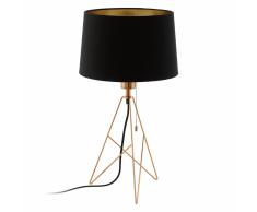 EGLO Lámpara de mesa CAMPORALE cobre y negro 56 cm 39178