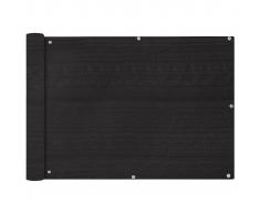 vidaXL Toldo para balcón HDPE 75x600 cm gris antracita