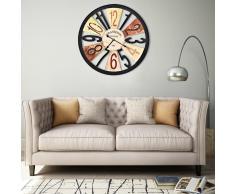 vidaXL Reloj de pared de metal multicolor 60 cm
