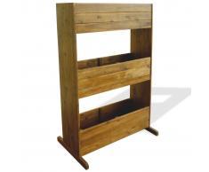 vidaXL Jardinera de 3 niveles madera de acacia maciza