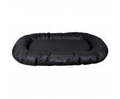 TRIXIE Cama de perro ovalada Samoa Sky negra 80x60 cm 28351