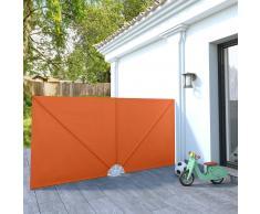 vidaXL Toldo lateral plegable terraza color terracota 300x150 cm