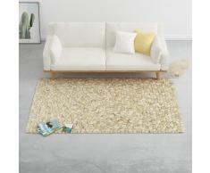 vidaXL Alfombra guijarros lana beige/gris/marrón/chocolate 160x230cm