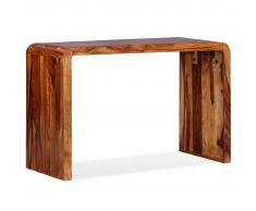 vidaXL Aparador/Escritorio de madera maciza de sheesham marrón