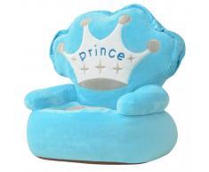 vidaXL Silla de peluche para niños príncipe azul