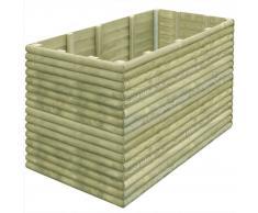 vidaXL Jardinera de madera de pino impregnada 19 mm 150x106x96 cm