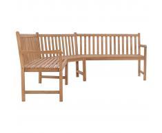 vidaXL Banco de esquina de jardín 202x202x90 cm madera maciza teca