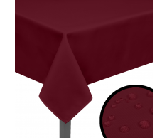vidaXL Manteles de mesa 5 unidades borgoña 100x100 cm