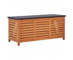 vidaXL Caja de almacenaje jardín madera maciza eucalipto 117x50x55 cm