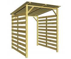 vidaXL Caseta para leña de madera de pino impregnada 170x200x200cm