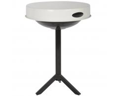 Esschert Design Mesa para barbacoa acero de carbono blanca FF236
