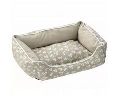 D&D Cojín cama de mascota Lovely corazones beis y blancos 671/437995