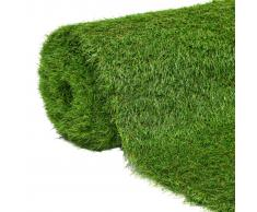 vidaXL Césped artificial 1x10 m/40 mm verde