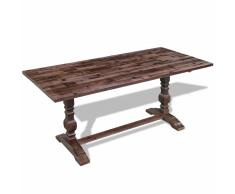 vidaXL Mesa plegable de pedestal doble madera acacia 100x60x45 cm
