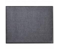vidaXL Alfombra de entrada de PVC gris, 90 x 150 cm