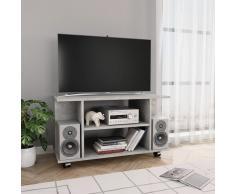 vidaXL Mueble para TV con ruedas aglomerado gris hormigón 80x40x40 cm