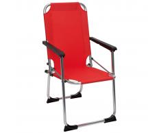 Camp Gear Silla plegable de camping para niños aluminio roja 1211929