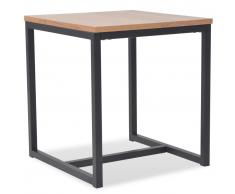 vidaXL Mesa de centro de madera de fresno 48x48x53 cm
